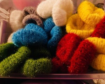 Knitted scrubbies