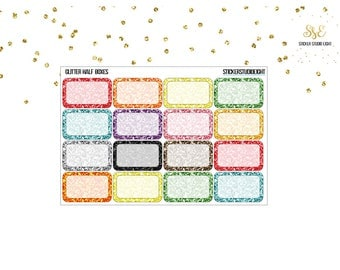 Multi Color Glitter: Half Boxes