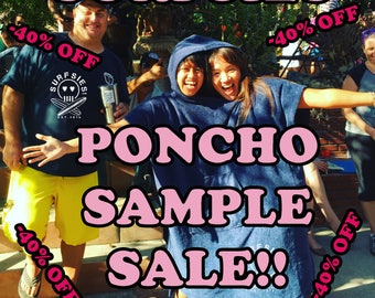 Sample Ponchos-3 pieces left-black and or navy fleece
