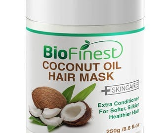 Biofinest Coconut Oil Hair Mask - with 100% Organic Shea Butter, Rosehip, Vitamin E- Deep Conditioner