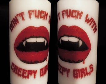 DFW Creepy Girls Pillar Candle
