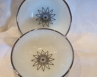 Vintage Anchor Hocking set of two (2) custard cups