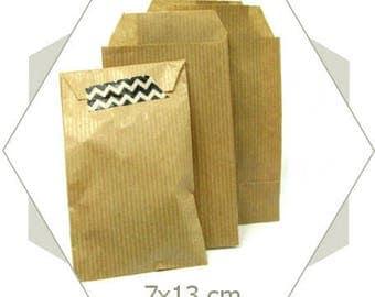 20 PC26 natural kraft paper gift bags