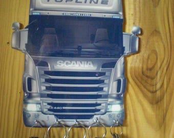 scania truck Keyring / key hook