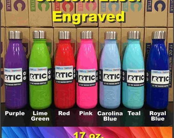 RTIC 17 oz. & 25 oz. Color Water Bottle - Custom Laser Engraved