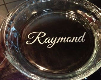 Personalized Pie Plate; wedding; house warming