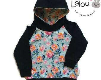 Hoodie Flowers kid's hoodie baby's hoodie grow with me hoodie