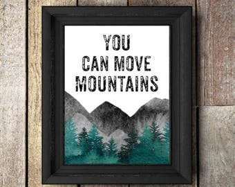 You can move,mountains,Printable,Nursery,trees,Woodland,wildlife,mountain,nature,Digital Download,Woodland Nursery,Watercolor,gift for home