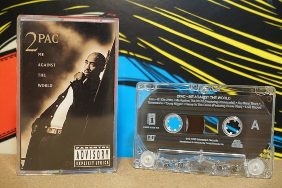 Me Against The World by 2Pac Tupac Shakur Vintage (2) Cassette Tapes