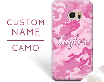 HTC U11 case, HTC One X10 case, pink camo, personalized, trendy, Htc 626 case, Htc Desire 526G case, Htc One S case, Htc Desire 800 case 180