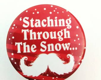 Stashing through the snow retractable badge reel