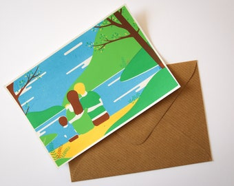 Postcard - Silkscreen - Small format - Birth