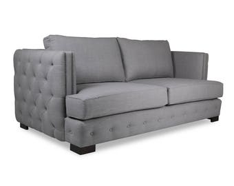 South Cone Home Pierre Tufted Linen Sofa