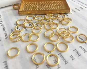 100 Pieces /Lot gold Plated 9mmx8mm open jump rings