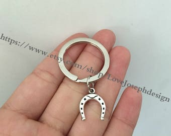 Horseshoe keychain, Horseshoe gifts key ring