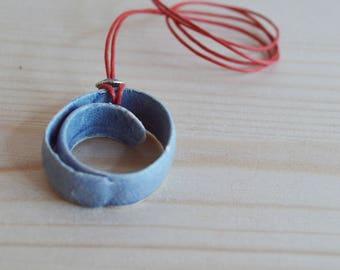 Lavender ceramic necklace