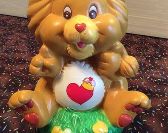 Vintage Care Bear Ceramic Bank ~ Braveheart Lion ~ Care Bears