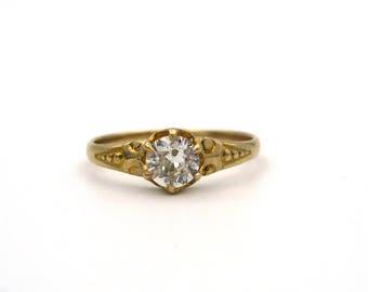 Antique Old European Cut Diamond Ring