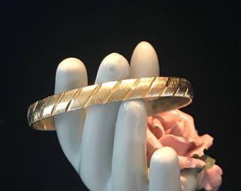 """Vintage gold plated """"Monet"""" bangle bracelet"""
