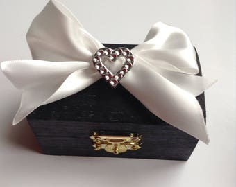 Wedding Favor Box, Will you be my Bridesmaid gift box, Jewellery box, Thank you for being my Bridesmaid box, Ring bearer box, Birthday Gift