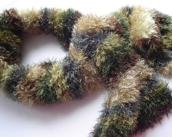 Knitted scarf for women Brown Shawl wrap Wool fur scarf Handmade scarf Warm scarf Winter accessories Crochet scarf Women gift for christmas