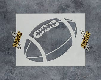 Football Stencil - Reusable Craft Stencil of a Football