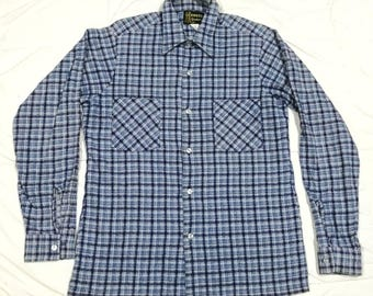Vintage Rare Redwood Sportswear Shadow Plaid Wool Cotton Rayon Made In U.S.A