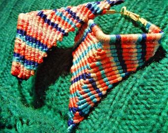 Earrings (pierced) woven by hand