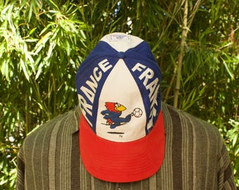 Retro France 98 World Cup Cap  Size - Adults ONE SIZE