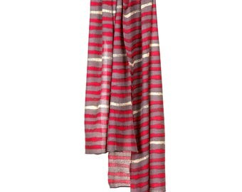 Screen Printed Fine Wool Scarf