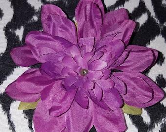 Purple Delilah Hair Clip, Purple Flower Clip, Purple hair clip, Flower clip, Delilah clip, girls hair clip, Pin Up hair Clip, Flowers