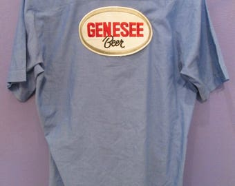 Men's Genesee Button-Down Beer Shirt Size L