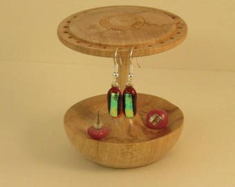 Wood Earring stand