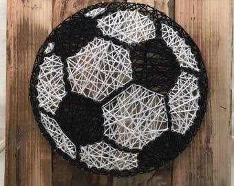 String Art Sign - Soccer Ball