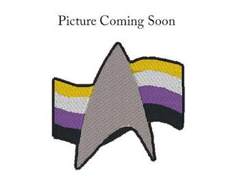 Star Trek Non-Binary Pride Patch, Star Trek Pride Patch, Non-Binary Pride Flag Patch, Iron on Patch, Iron on Pride Patch