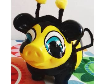 Bumblebee Piggy Bank, Bumblebee, Piggy Bank for kids, Personalized Piggy Bank, Kids Piggy Bank, Personalized, Piggy Bank, Collectionist