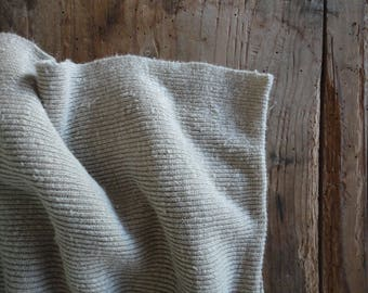natural HEMP jersey ribs _ fabric by yard