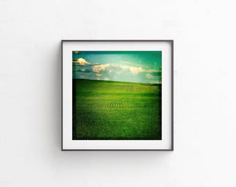 "Prairie, Cloud Print, Colorful, Printable Art, Instant Download, Farm, Nature Print, Landscape Print, Landscape Photography, ""Greenscape"""