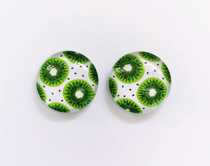 The 'Kiwi' Glass Earring Studs