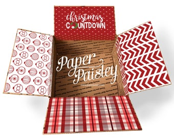 Care Package Sticker Kit - Christmas Countdown/12 days of christmas/deployement/military/missionary/decorated box flaps/shipping label/box