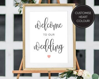 Printable Welcome Sign/ Welcome to our Wedding Sign/ Wedding Sign/ Wedding Printable/ PDF/ Download/ Elizabeth suite #049-10