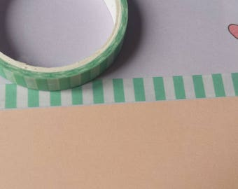 Green and White Stripe Washi Tape