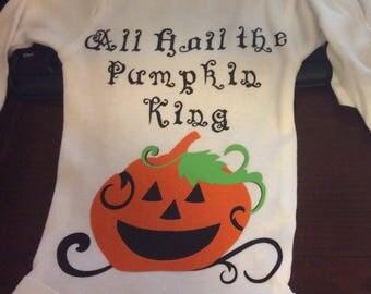 Pumpkin King Long Sleeve Onesie