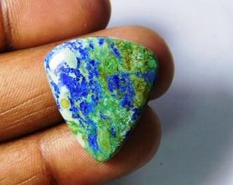 Huge. Malachite Azurite loose gemstone. Natural Azurite Malachite cabochon, Azurite Malachite gemstone, Malachite Azurite 17 Cts. #3346N