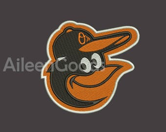 Baltimore Orioles Embroidery design 7 Size  INSTANT download machine embroidery