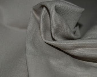 "Khaki Stretch Cotton Twill Fabric 50"" Wide"