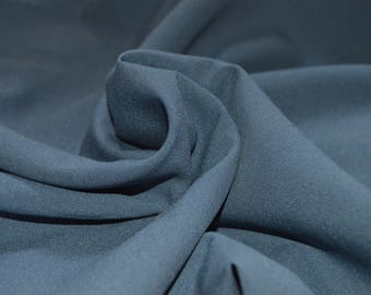 "Steel Blue Stretch Lining Fabric 43"" Wide"