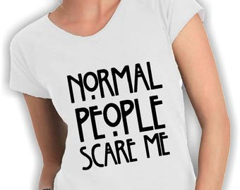 T-shirt neckline normal people scare me