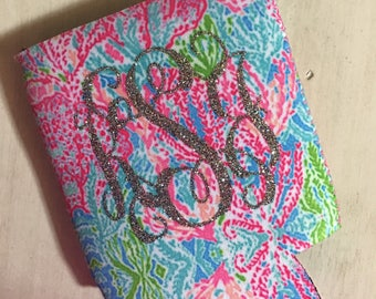 Lilly Inspired Can Holder, Drink Holder, Custom Can Hugger, Personalized Can Holder,
