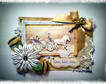 """Card """"Love, love, love"""""""